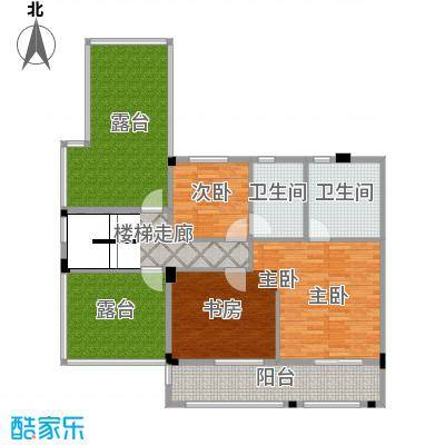 鹏基诺亚山林三期187.00㎡B1-3复式五层户型2室2卫