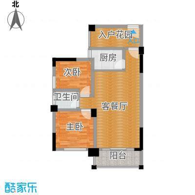 三景国际88.00㎡月华阁F户型2室1厅1卫1厨