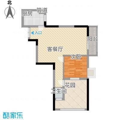 鑫泰丽都中央公馆82.53㎡一房两厅一卫户型10室