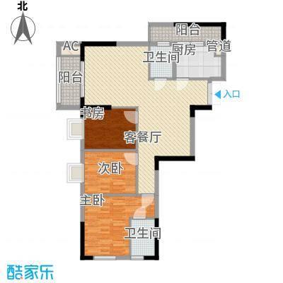 鑫泰丽都中央公馆124.98㎡三房两厅一卫户型10室