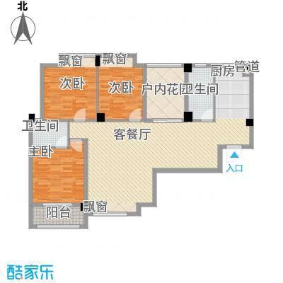 愿景山水湾七期115.00㎡H3-5-A户型3室2厅2卫4厨