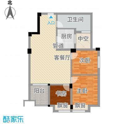 愿景山水湾七期89.00㎡H3-5-B户型(售完)户型3室2厅1卫1厨