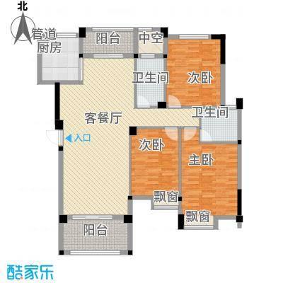 愿景山水湾七期130.00㎡G12/15/17-A户型3室2厅2卫1厨