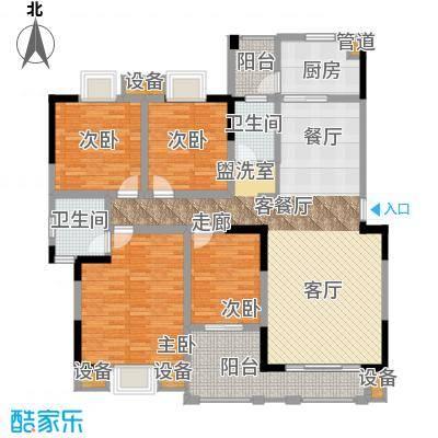 上河国际4室2厅户型4室2厅2卫1厨