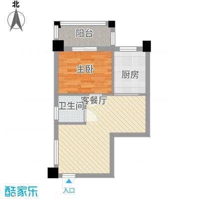 三盛层上观邸E户型45平米户型10室