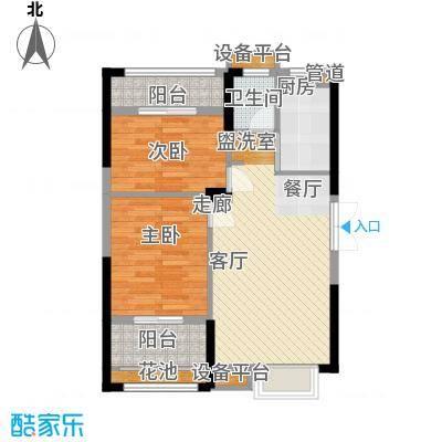 长城雅苑二期85.73㎡2#C/C1户型2室2厅1卫1厨