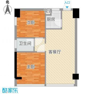 星城荣域二期78.00㎡G2户型2室1厅1卫
