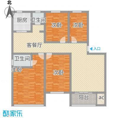 金利苑户型图A型 4室2厅2卫1厨