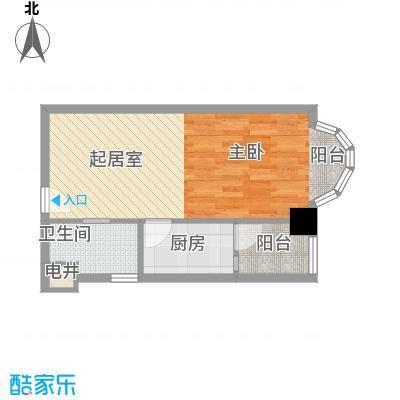 华海3c电脑城68.00㎡1室1厅户型1室1厅1卫1厨