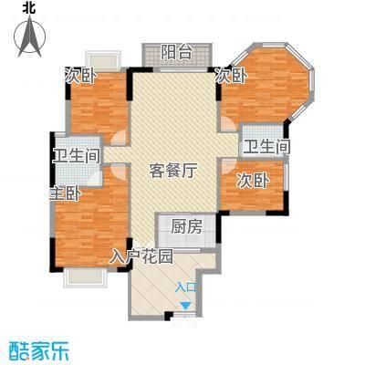 正源尚峰尚水4室2厅2卫1厨户型4室2厅2卫1厨