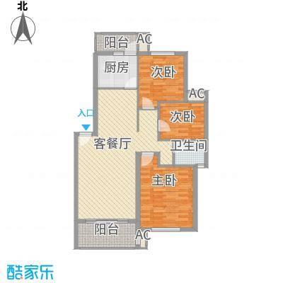 长坡社区90.00㎡2室1厅1卫1厨户型3室1厅1卫1厨
