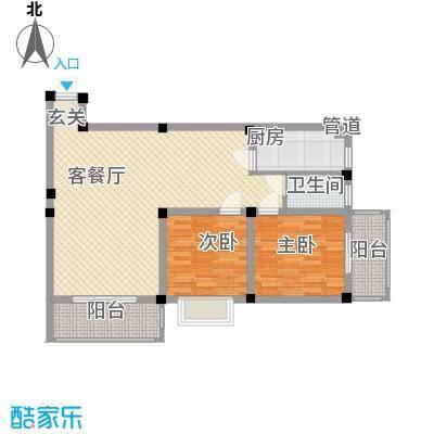 紫东公寓85.74㎡G户型2室2厅1卫1厨