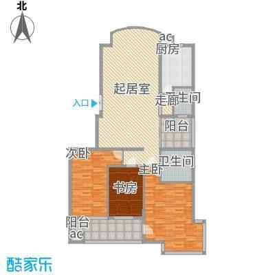 向阳湖社区3室2厅户型3室2厅2卫1厨