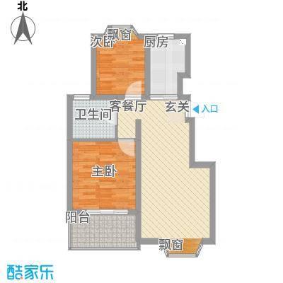 新桥村沁园小区75.00㎡2室2厅1卫1厨户型2室2厅1卫1厨