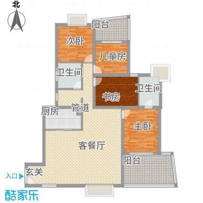 天心电子世界大厦4室2厅户型4室2厅2卫1厨