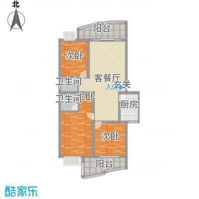 恒业雅苑144.00㎡3室2厅户型3室2厅2卫1厨