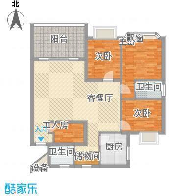 王府花园130.00㎡王府花园户型图3室2厅2卫1厨户型10室