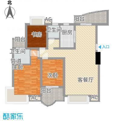 金色比华利134.00㎡金色比华利户型图16_B3室2厅2卫1厨户型3室2厅2卫1厨