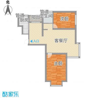 月伴林湾110.00㎡月伴林湾户型图I户型户型图2室2厅1卫户型2室2厅1卫