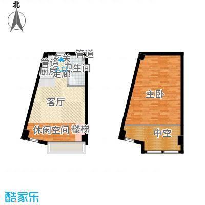 盈嘉上锋国际56.21㎡盈嘉上锋国际户型图创意空间户型1室1厅1卫户型1室1厅1卫