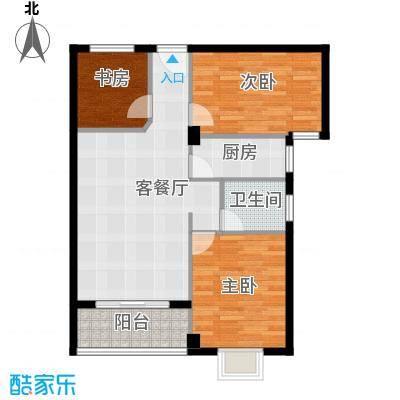 财富广场97.20㎡F1户型3室1厅1卫1厨