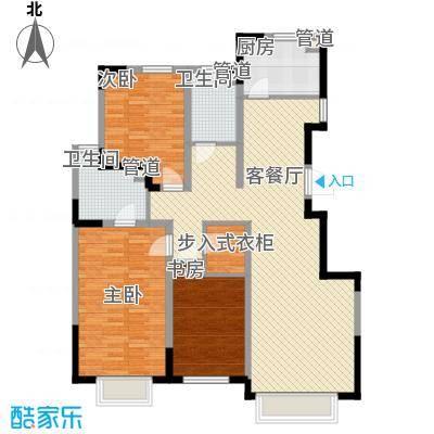 力旺美林139.78㎡力旺美林户型图二期E户型图3室2厅2卫户型3室2厅2卫