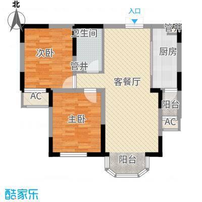 中海国际社区85.00㎡中海国际社区户型图高层J2,J3,J6,J7号楼JF户型图2室2厅1卫1厨户型2室2厅1卫1厨