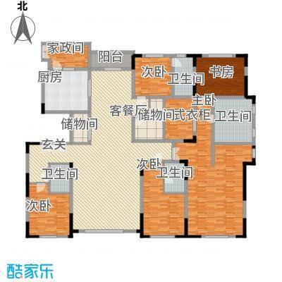 中海紫金苑320.00㎡中海紫金苑户型图A户型图3室2厅3卫1厨户型3室2厅3卫1厨