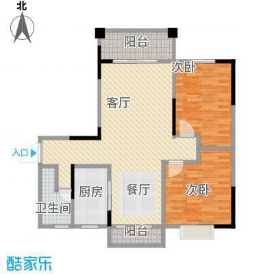 博雅湘水湾89.74㎡3栋户型2室1厅1卫1厨