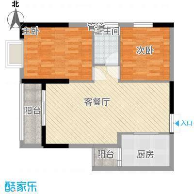 鑫泰丽都中央公馆88.52㎡两房两厅一卫户型10室
