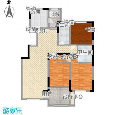 中海金域中央145.00㎡二期G户型3室2厅1卫1厨