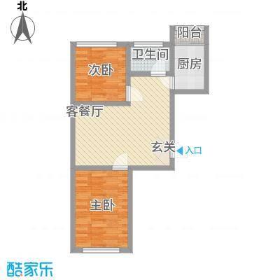 龙泰富苑67.58㎡龙泰富苑户型图2室2厅1卫户型10室