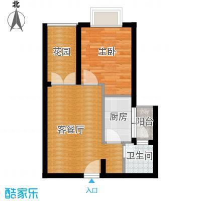 凯旋帝景43.00㎡户型1室1厅1卫1厨