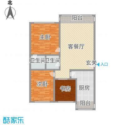 鸿城国际150.00㎡鸿城国际3室户型3室