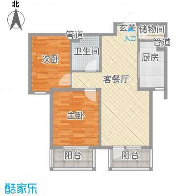 鸿城国际89.00㎡鸿城国际户型10室