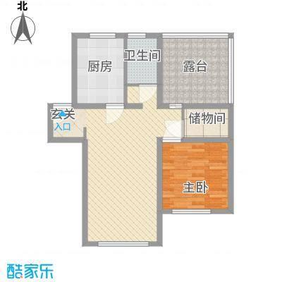 长春豪园87.03㎡长春豪园户型图1室1厅1卫1厨户型10室