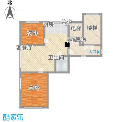 汇景星城99.27㎡汇景星城户型图2号楼A1户型2室2厅1卫户型2室2厅1卫