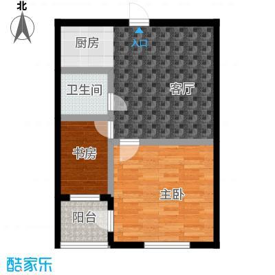 金鼎名城75.21㎡金鼎名城户型图2室1厅1卫户型10室