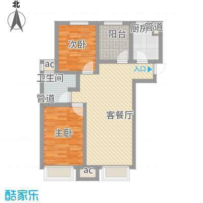 绿地新里中央公馆89.00㎡CC公馆阳光舒适户型2室2厅1卫