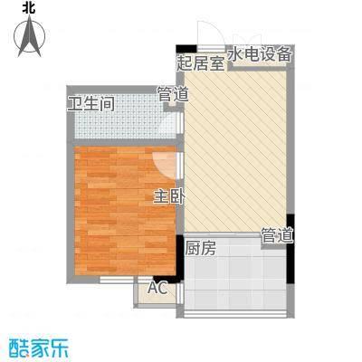 爵士A版46.88㎡爵士A版户型图1室1厅1卫户型10室