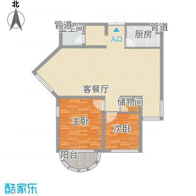 亚泰鼎盛国际 2室 户型图