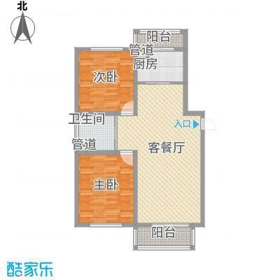 高格蓝湾106.00㎡高格蓝湾户型图B户型图2室2厅1卫户型2室2厅1卫
