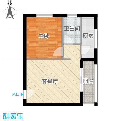 告庄西双景60.00㎡精装公寓60㎡户型1室1厅1卫