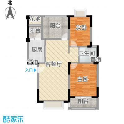 万达西双版纳国际度假区93.38㎡e3-3户型2室2厅1卫