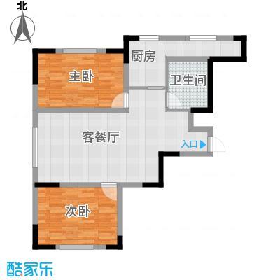 金泽锦城83.93㎡-02户型2室1厅1卫1厨