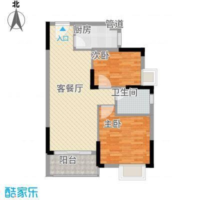 万达西双版纳国际度假区73.80㎡C-1户型2室2厅1卫