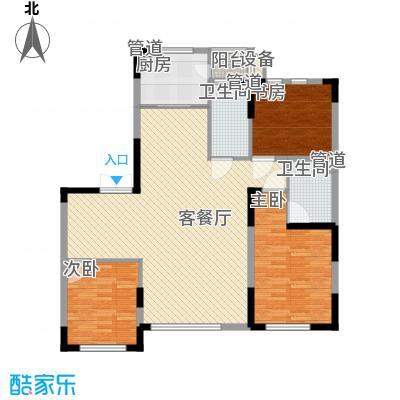 亚泰樱花苑149.00㎡高层D户型3室2厅2卫