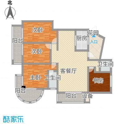 冠嘉冠城165.92㎡E1户型4室3厅2卫1厨