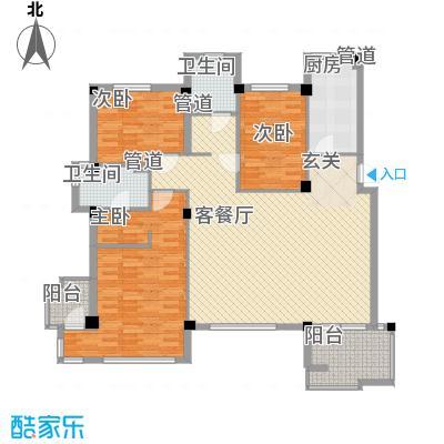 万科上东区134.36㎡万科上东区户型图3室2厅2卫户型10室