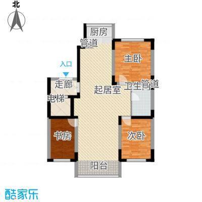 长江花园124.34㎡长江花园户型图3室2厅1卫户型10室